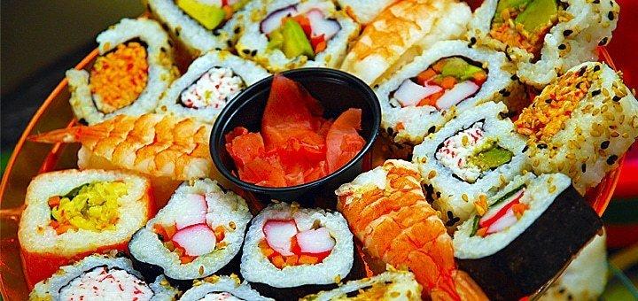 Сертификат на 100 грн. на меню кухни и бара в сети ресторанов «Сушия» всего за 59 грн! Скидка 41%!