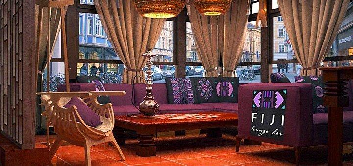 Скидка 30% на все меню кухни и бара в «FIJI Lounge Bar»