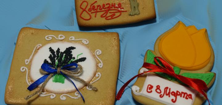 Закажи торт на 8 марта и получи упаковку зефира или пряничную картину в подарок от «Boncake»