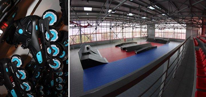 Неограниченное время катания и проката роликов, скейта и защиты для двоих в скейт-парке «Bombastik»!