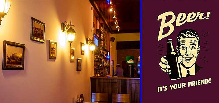 Пей пиво пенное, под ритмы современные! В пабе «Beer Street Pub» 50% скидки пенные напитки, закуски и ВСЕ - коктейли!