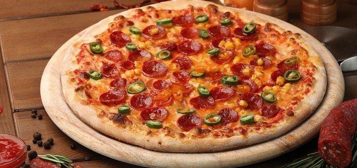 Скидка 50% на весь ассортимент пиццы в кафе «Веселый Хачик»