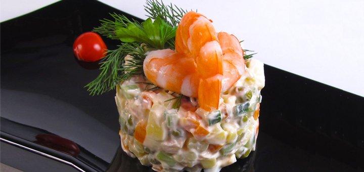 Скидка 30% на всё меню кухни и 50% на коктейльную карту в ресторане «Яблоко»