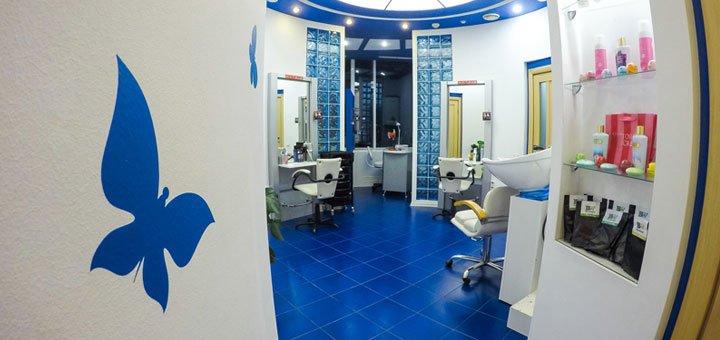 Обрезной классический маникюр и педикюр с покрытием гель-лаком в салоне красоты «Кураж»