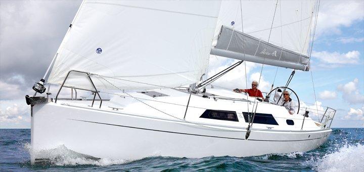 Скидка 22% на четырехчасовую прогулку на яхте VIP-класса «Hanse 325» для компании + мастер-класс от «Парусной академии»