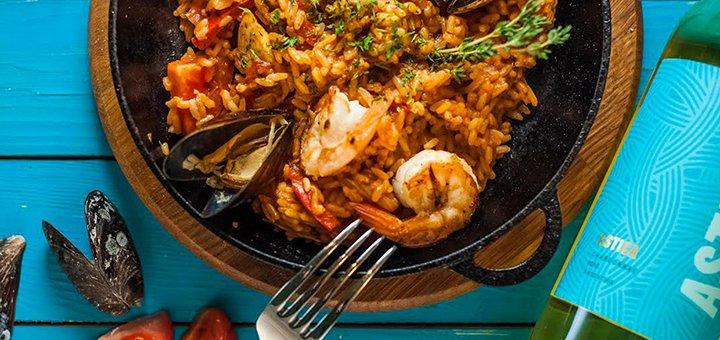 Скидка 30% на все меню кухни и бара в ресторане «Хвиля»