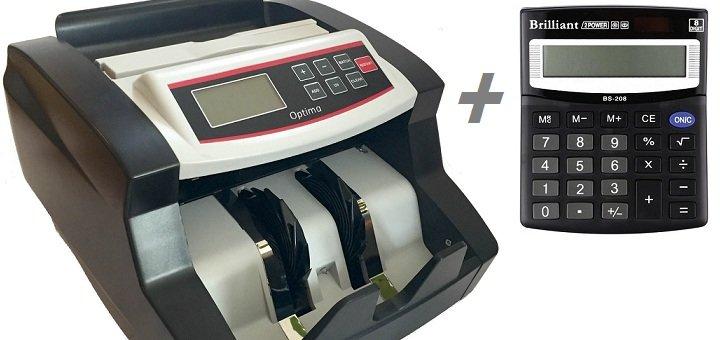 При покупке счетчика денег - настольный калькулятор в подарок