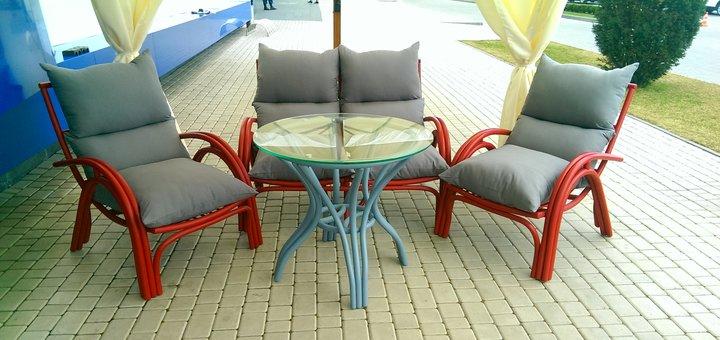 Скидка 10% на коллекционную мебель из натурального ротанга - комплект «Венеция»