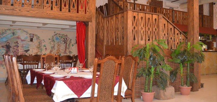 Скидка 50% на все меню кухни в ресторане грузинской и кавказской кухни «Сухуми»