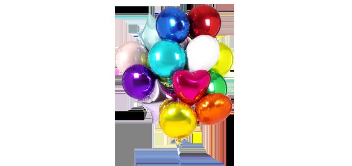 Скидка 50% на акционный осенний набор фольгированных шаров от магазина «E-motions»