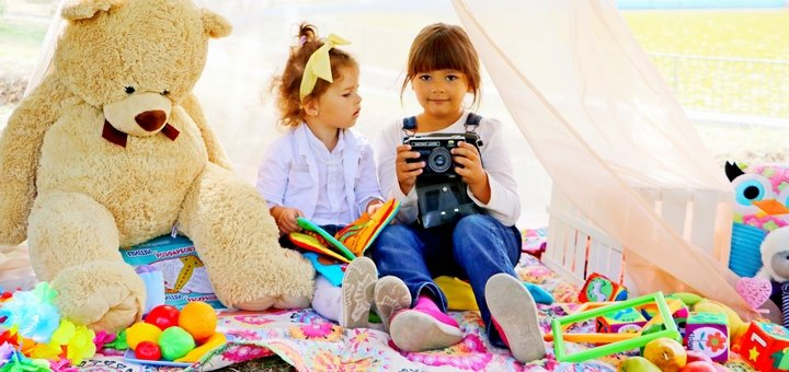Детская осенняя фотосессия от арт-фотостудии «Photo Kids» в парке Победы