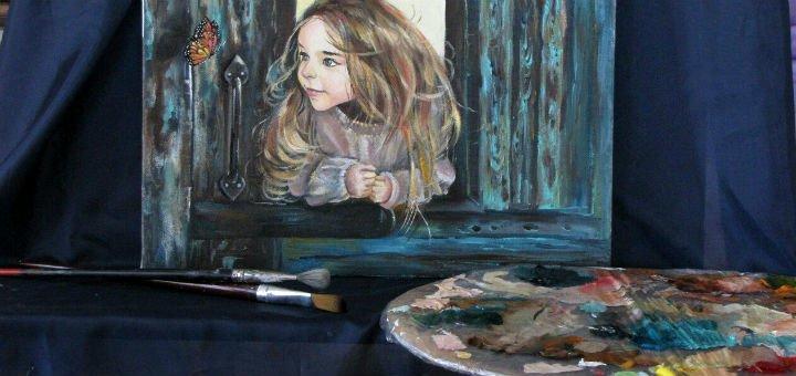 Мастер-класс по написанию картины маслом в художественной студии «Клуб Да Винчи»