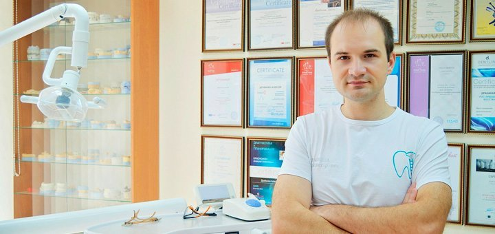 УЗ-чистка зубов, Air Flow, полировка пастами в стоматологии Алексея Драбинки