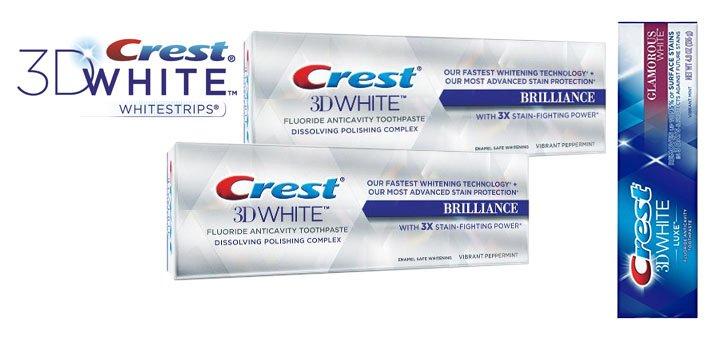 Скидка 20% на зубные пасты «Crest»