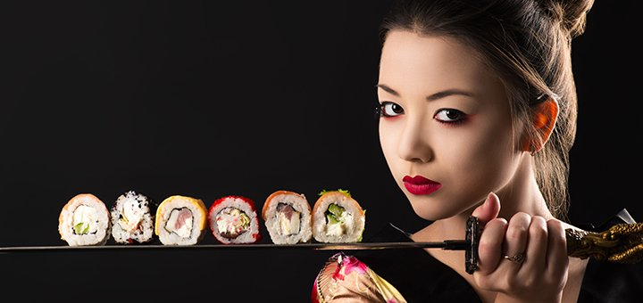 Скидка 50% на все меню суши от службы доставки «Суши Виноградарь»