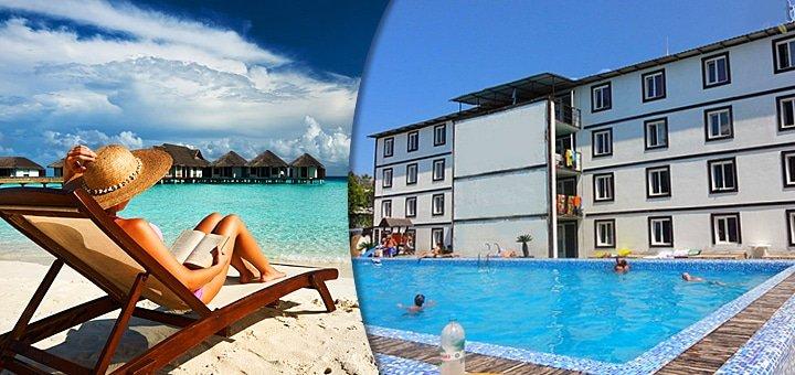 Волшебный отдых у моря! 3, 4, 6, 8, 11 дней для двоих с питанием или без в отеле Arina pool hotel в Коблево под Одессой!