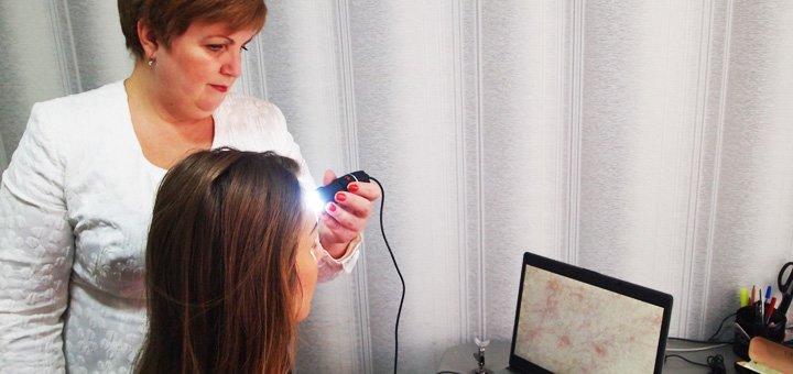 Триходиагностика, дермадиагностика или иридодиагностика в Кабинете косметолога и диагностики
