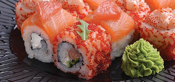 Скидка 50% на роллы, суши-ассорти, китайскую лапшу и десерты в японском ресторанчике «Банзай»
