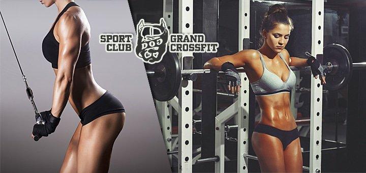 Безлимитный день посещения спортклуба + тренировка по CrossFit с профессиональным тренером в клубе DOG & Grand CrossFit!