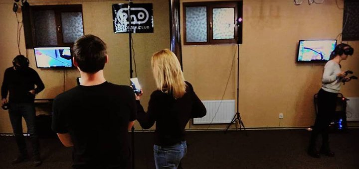 Скидка 50% на 30 или 60 минут игры в клубе виртуальной реальности «Potoybik»
