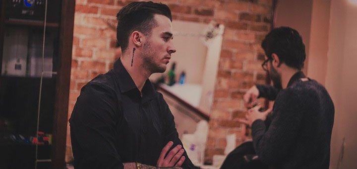 Мужская стрижка и коррекция бороды в барбершопе «M2»