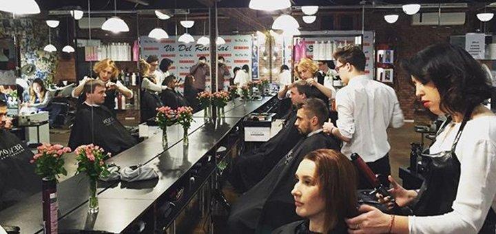 Стрижка, укладка, окрашивание, полировка и ламинирование волос в салоне красоты «ViaDelRai»