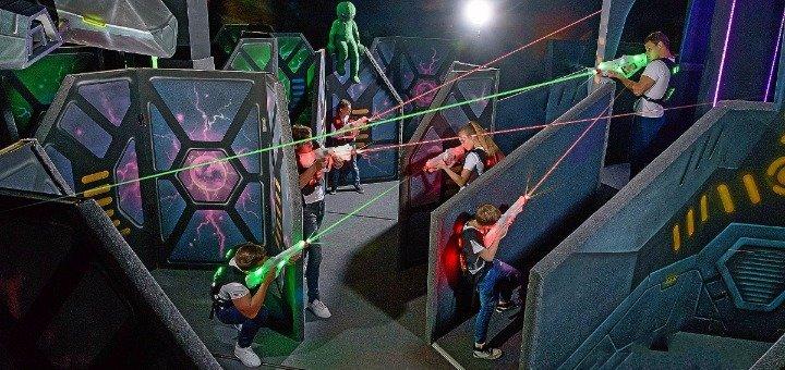 Скидка 50% на 2 часа игры в лазертаг для компании в лазертаг-арене «Галактика»