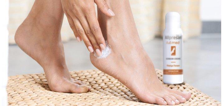 Скидка 35% на «Дышащие» крем-пены «Allpresan» для ухода за кожей стоп