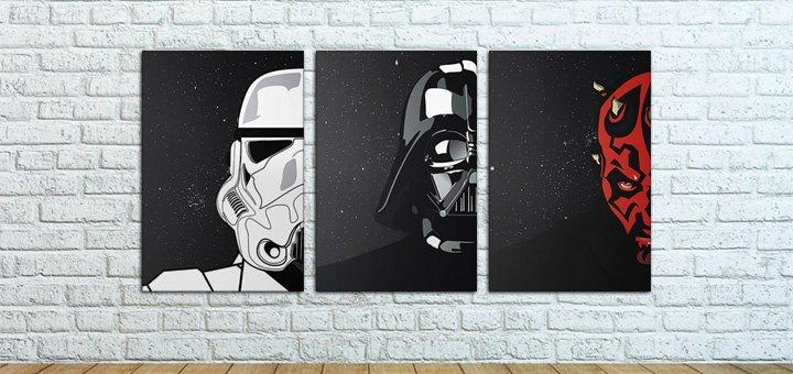Скидка 5% на все триптихи картин из серии «Star Wars»