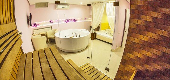 Романтические сутки с посещением финской сауны, хаммама в комплексе «SPA-отель» в Харькове