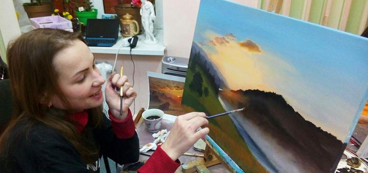 До 24 часов обучения по курсу масляной живописи в художественной школе «7 Чудес»