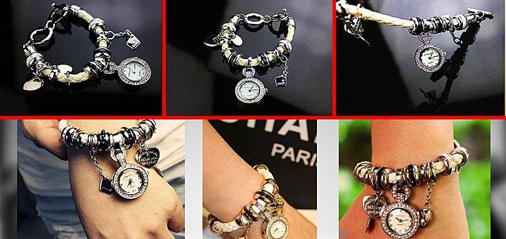 Стиль, блеск, шик! Стильные часы-браслет в стиле Пандора от интернет-магазина «Brasletik»!