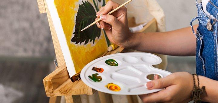 Мастер-класс по написанию картины акриловыми красками в доме творчества «Vivo Studio»