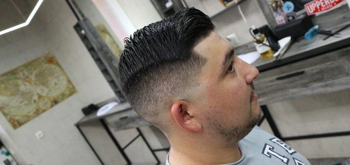Мужская стрижка и коррекция бороды в барбершопе «Bench»