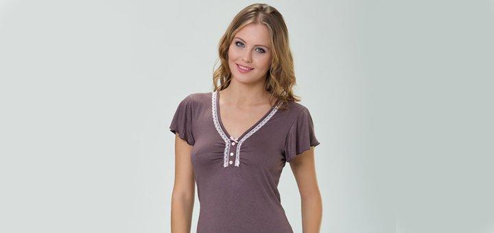 Скидки до 50% на ночные сорочки, пижамы, туники и халаты
