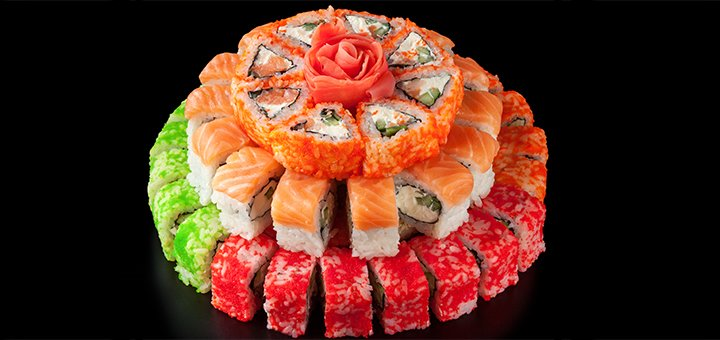 Скидка 50% на меню кухни, суши, пиццу, WOK с доставкой или самовывозом от компании «Instafood»