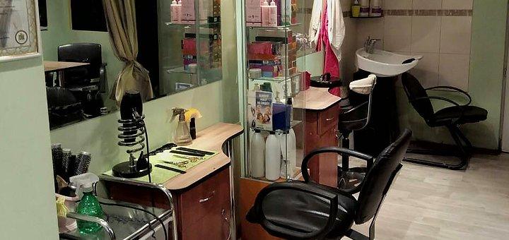 Стрижка, окрашивание, полировка и укладка волос в салоне красоты «Гламур»