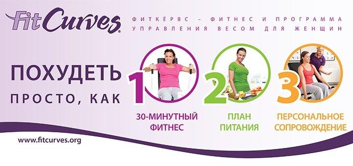 10 занятий фитнесом в сети фитнес-клубов FitCurves по специальной цене! 175 клубов Украины!