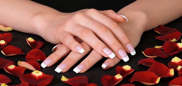 Наращивание ногтей с покрытием гель-лаком в салоне красоты «Anet»