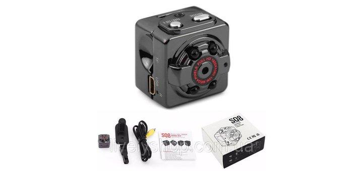 Скидка 44% на мини камеру видеорегистратор SQ8 HD 1080p Оригинал!