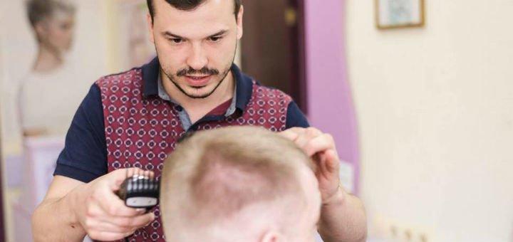 Мужская стрижка c укладкой, стрижка бровей и бороды от стилиста-парикмахера Игоря Малашкевича