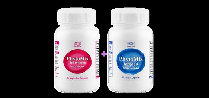 Скидка 30% на набор «ФитоМикс для женщин + ФитоМикс для мужчин» - продукты для женского и мужского здоровья
