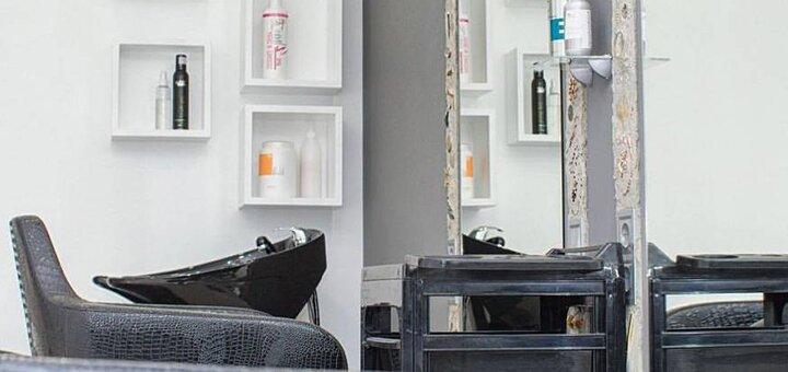 Стрижка, кератиновое восстановление волос от парикмахера-колориста Юлии в салоне «Twinkle»