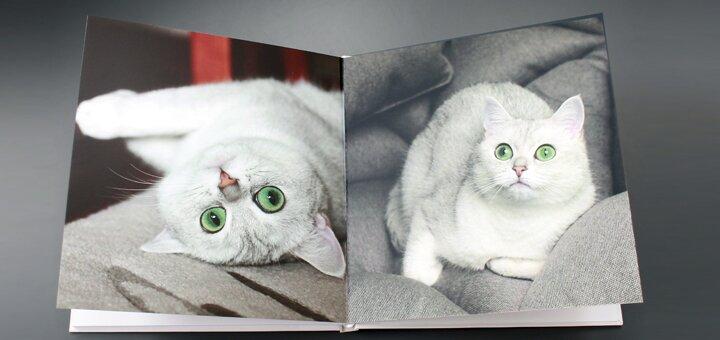 Скидка 35% на фотокнигу 30х30 см в твердом переплете с премиальным покрытием