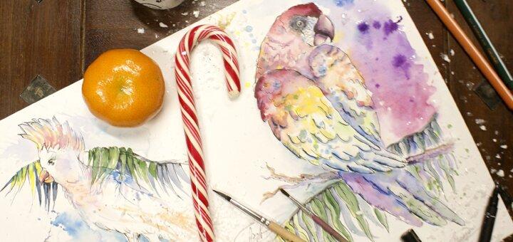 Мастер-класс по иллюстрации и скетчингу в художественной мастерской «Art-Time Studio»