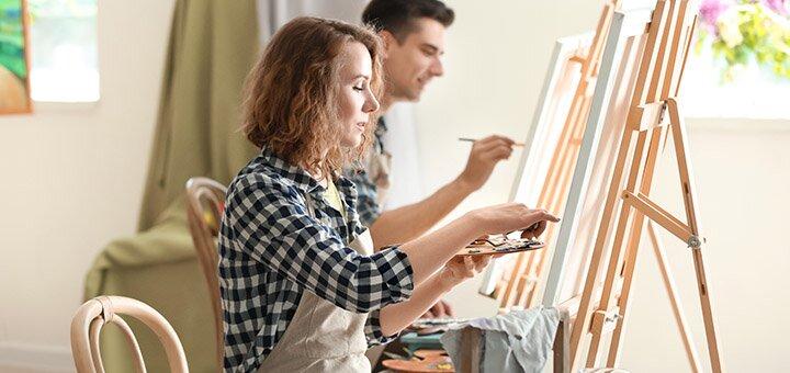 Мастер-класс по написанию картины для пары в творческой студии «Безмежність»