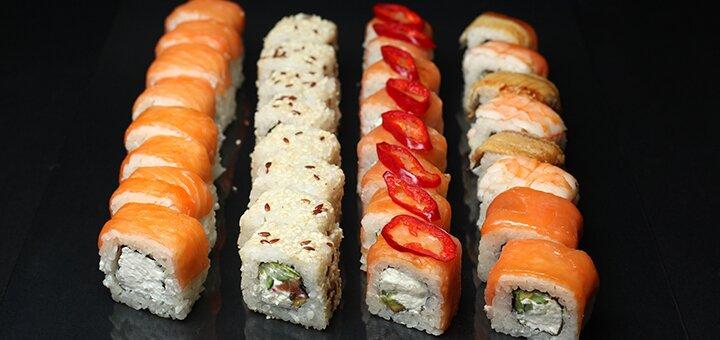 Скидка 50% на все суши, пиццу и WOK с доставкой или самовывозом от службы «Бур-жуй»