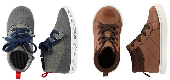 Скидки до 70% на всю детскую обувь Carter's и H&M!