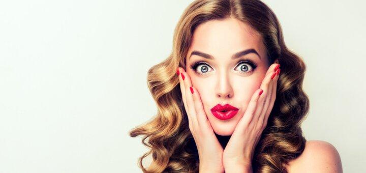Перманентный макияж «акварельные губы» и «пудровые брови» в салоне красоты «Cosmopolit»
