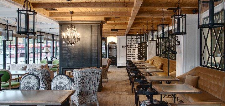Скидка 50% на меню кухни, суши-бар, алкогольные и безалкогольные коктейли в ресторане «Mafia»